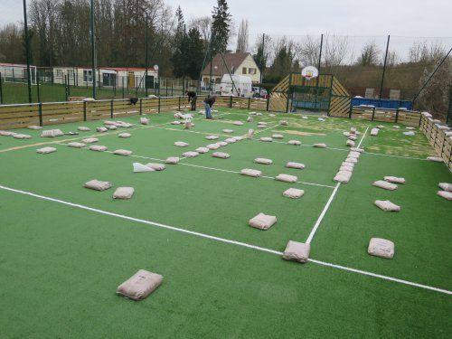 Un City-Stade dans la commune d'Angy (60)
